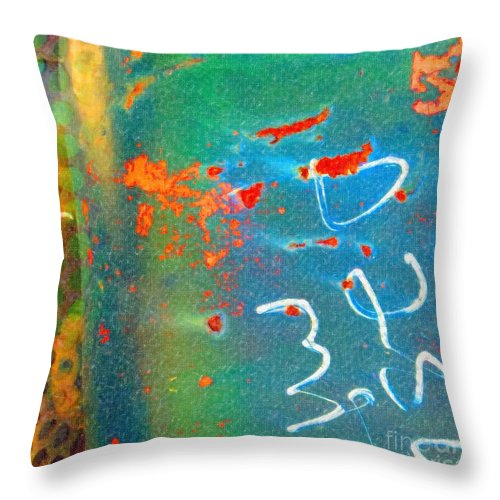 Rusted Glory Throw Pillow featuring the painting Rusted Glory 5 by Desiree Paquette
