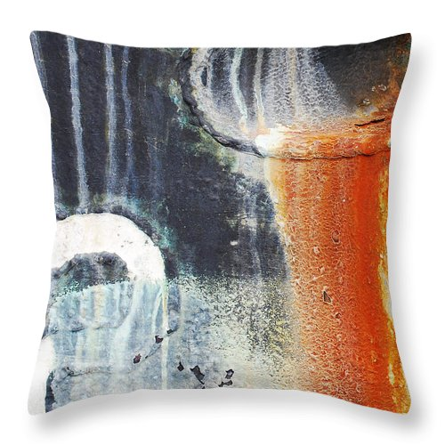 Industrial Throw Pillow featuring the photograph Rusted Waterfall by Jani Freimann