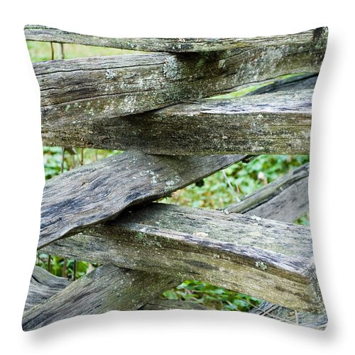 Fence Throw Pillow featuring the photograph Rustic Fence by Breanna Calkins
