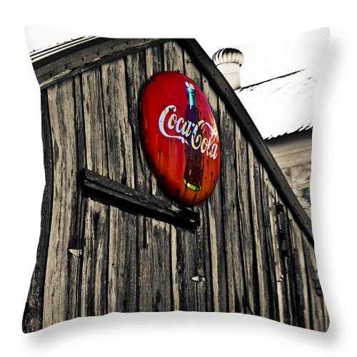 Coke Throw Pillow featuring the photograph Rustic by Scott Pellegrin