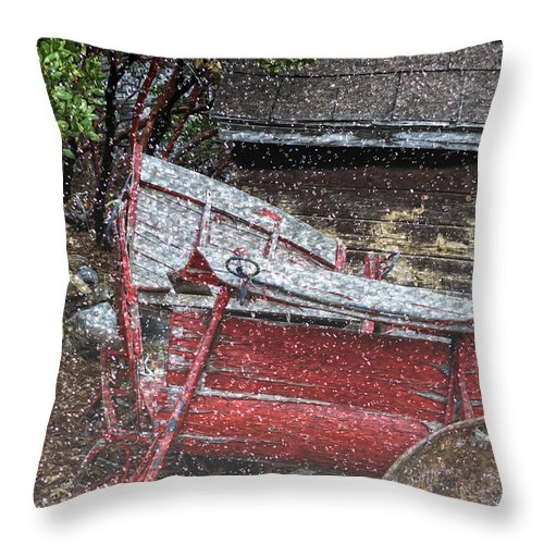 Rustic Throw Pillow featuring the photograph Rustic Winter by Camille Lopez