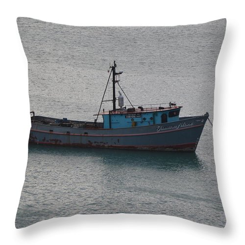 Rust Throw Pillow featuring the photograph Rusty Boat by Richard Booth