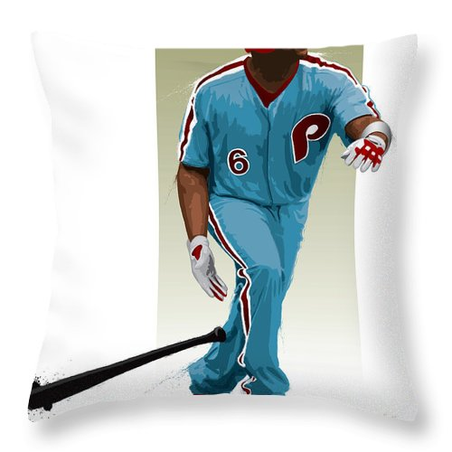 Ryan Howard Throw Pillow featuring the digital art Ryan Howard by Scott Weigner