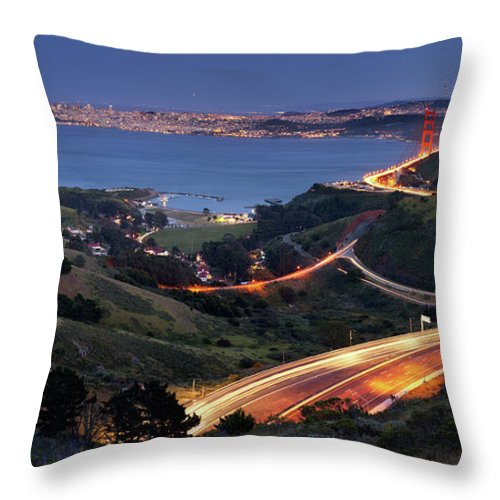 Scenics Throw Pillow featuring the photograph S Marks The Spot by Vicki Mar Photography