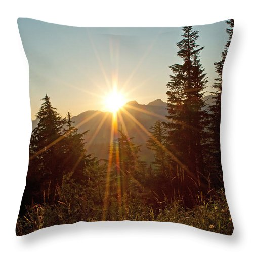 Sunset Throw Pillow featuring the photograph Sabbath Sunset by Tikvah's Hope