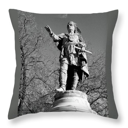 Cemetery Throw Pillow featuring the photograph Sacoyewatha 0053 by Guy Whiteley