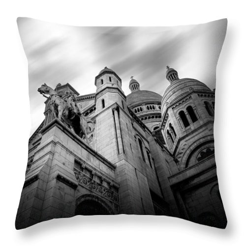 Sacre Couer Throw Pillow featuring the photograph Sacre Couer by Wim Slootweg