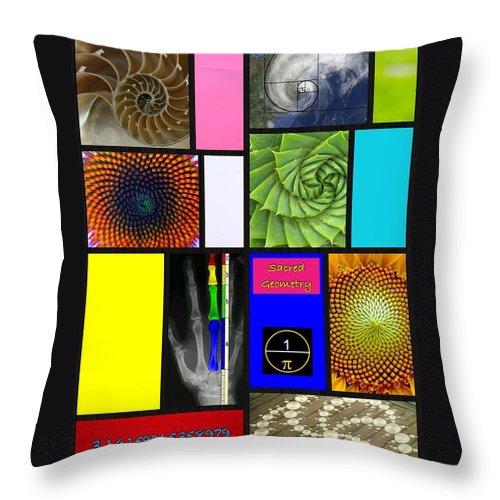 Digital Art Throw Pillow featuring the digital art Sacred Geomerty by Karen Buford