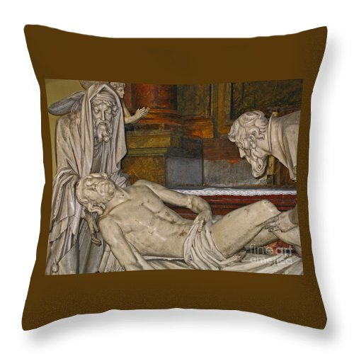 Christ Throw Pillow featuring the photograph Sacred Sacrifice by Ann Horn