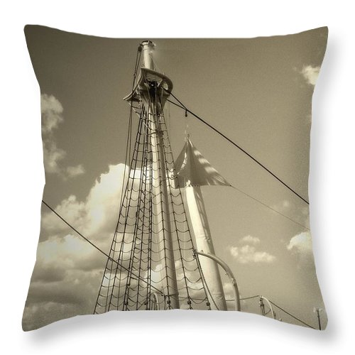 Sailboat Throw Pillow featuring the photograph Safe Harbor At Sunset by RC DeWinter
