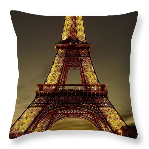 Eiffel Tower Throw Pillow featuring the photograph Saffron by Jenny Hudson