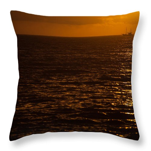 La Palma Throw Pillow featuring the photograph Sail Away In Sunset by Ralf Kaiser