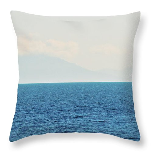 Pacific Throw Pillow featuring the photograph Sail Cool Blue by David Fabian