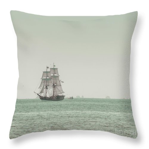 Art Throw Pillow featuring the photograph Sail Ship 1 by Lucid Mood