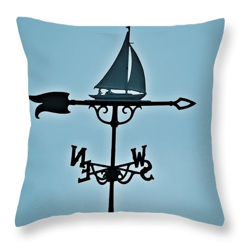 Sailboat Throw Pillow featuring the photograph Sailboat Weathervane by Tara Potts