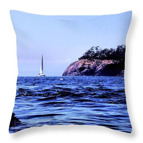 Sailboat Throw Pillow featuring the photograph Sailboat's Level by Rick Lawler