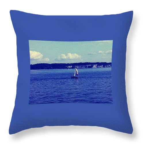 Seattle Throw Pillow featuring the photograph Sailing Seattle by Barbara Christensen