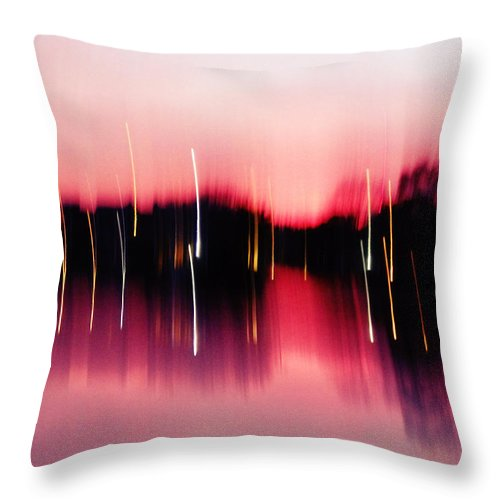 Pink Throw Pillow featuring the photograph Sailor's Delight by Stephanie Selby