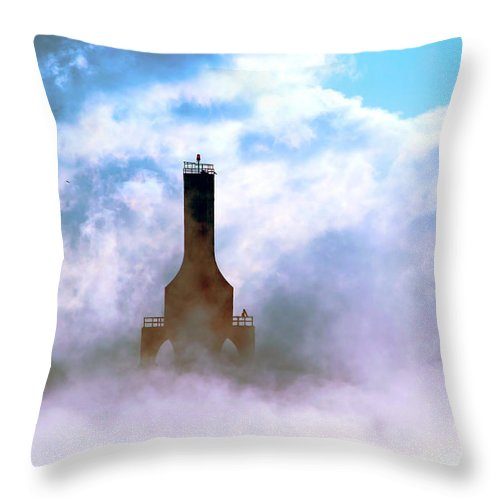 Lighthouse Throw Pillow featuring the photograph Sailors Hope by James Meyer