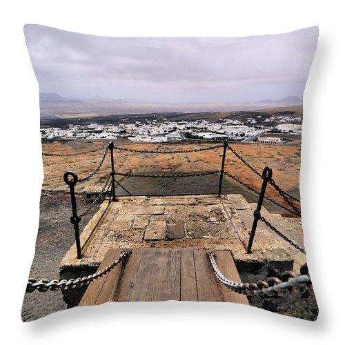Travel Throw Pillow featuring the photograph Saint Barbara Castle Near Teguise by Karol Kozlowski