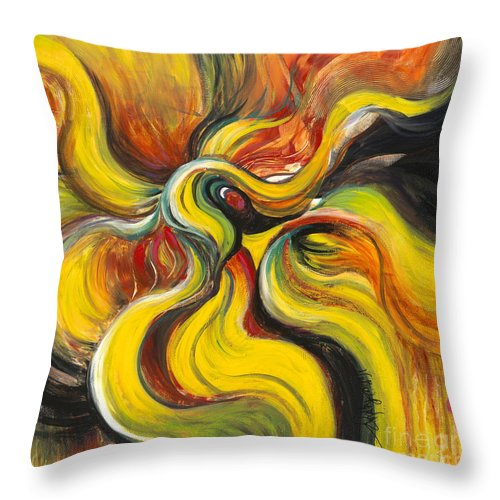 Latin Throw Pillow featuring the painting Salsa by Nadine Rippelmeyer