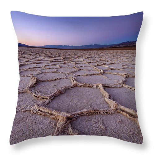 Scenics Throw Pillow featuring the photograph Salt Flat Basin by Piriya Photography