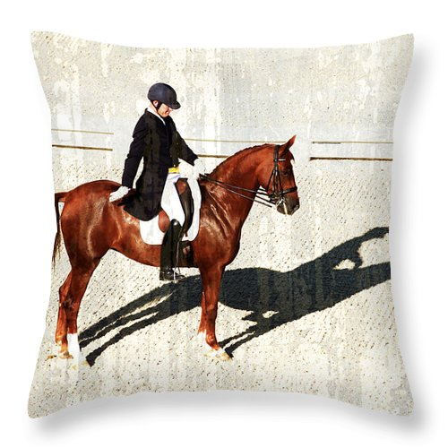 Dressage Throw Pillow featuring the photograph Salute by Alice Gipson