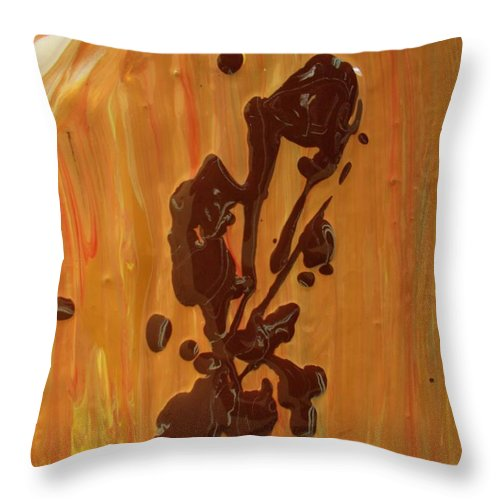 Original Throw Pillow featuring the painting Salute by Artist Ai