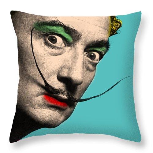 Salvador Dali Throw Pillow featuring the digital art Salvador Dali by Mark Ashkenazi