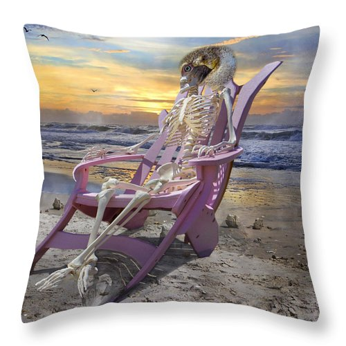 Human Throw Pillow featuring the photograph Sam Becomes Animalistic by Betsy Knapp