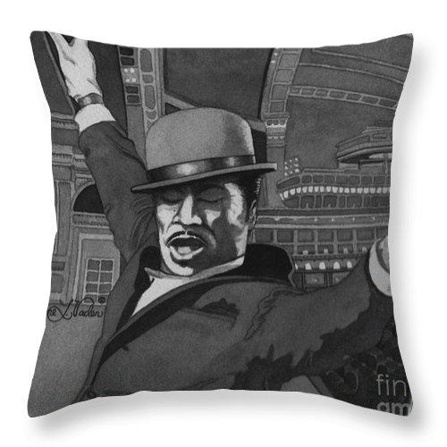 Dance Throw Pillow featuring the painting Sammy Davis Jr by JL Vaden