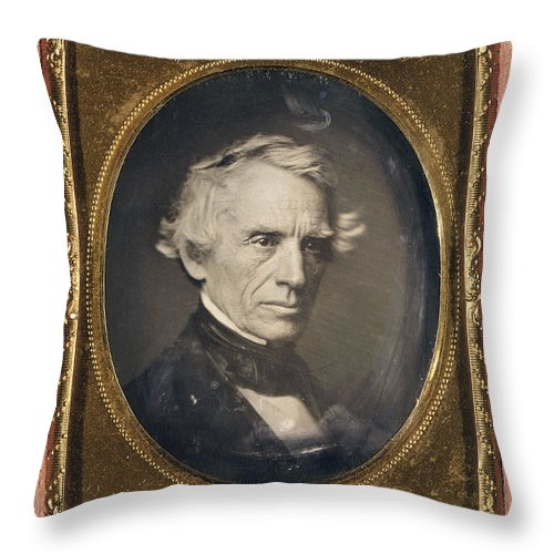 1845 Throw Pillow featuring the photograph Samuel Finley Breese Morse by Granger