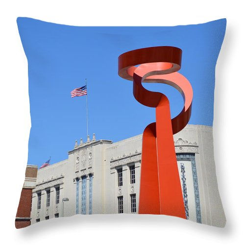 Architecture Throw Pillow featuring the photograph San Antonio Tx by Shawn Marlow