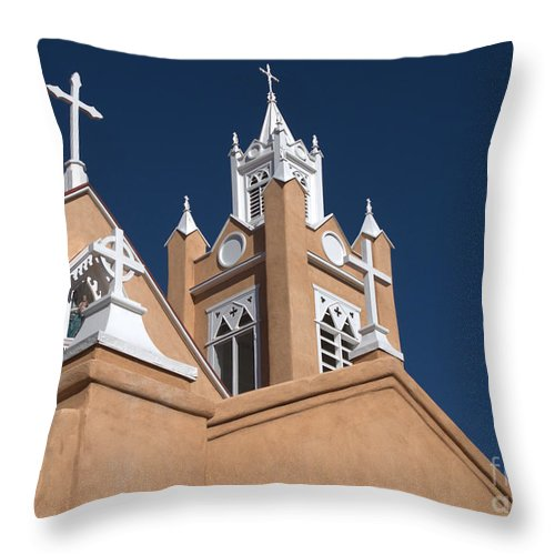 San Felipe De Neri Church Throw Pillow featuring the photograph San Felipe De Neri Church by John Greco