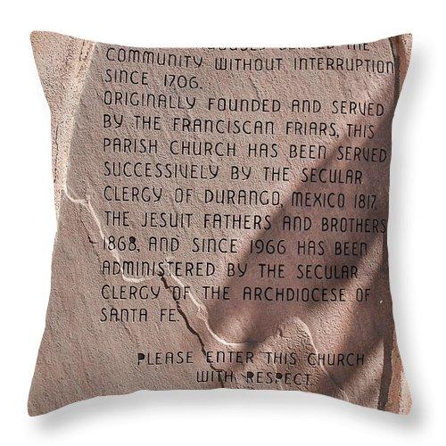 Prayer Throw Pillow featuring the photograph San Felipe De Neri by Dany Lison