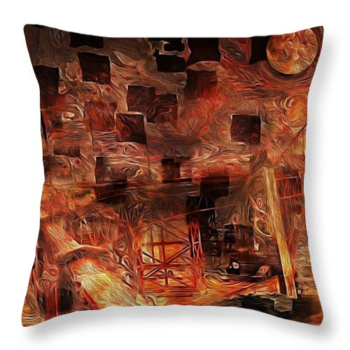 San Francisco Throw Pillow featuring the photograph San Francisco Bay by Jack Zulli