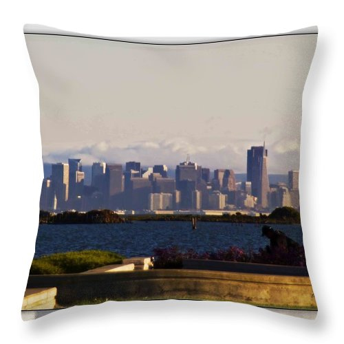 San Francisco Throw Pillow featuring the photograph San Francisco by Walter Herrit