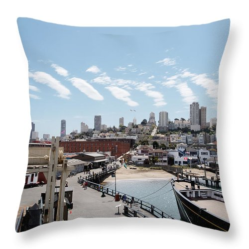 San Francisco Throw Pillow featuring the photograph San Francisco Waterfront by Jo Ann Snover