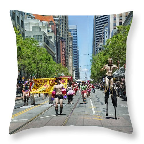 Parade Throw Pillow featuring the photograph San Francisco's Gay Pride Parade by Mountain Dreams