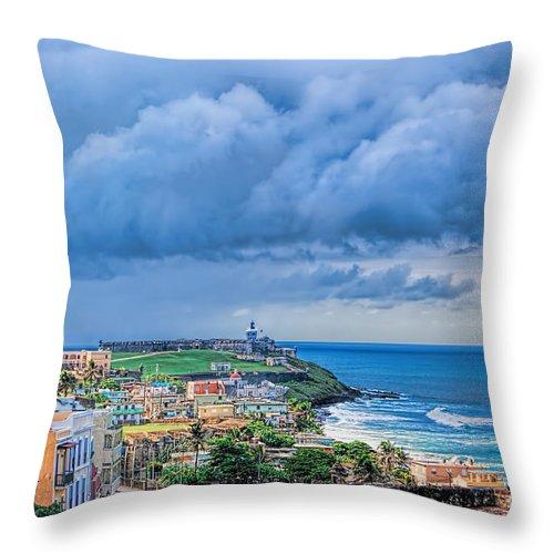San Juan Throw Pillow featuring the photograph San Juan Puerto Rico by Olga Hamilton