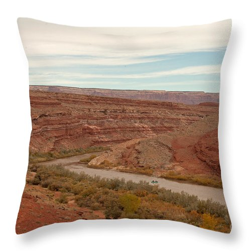 Autumn Throw Pillow featuring the photograph San Juan River by Fred Stearns