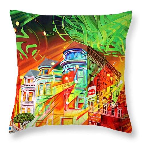 Phish Throw Pillow featuring the painting San Phranphisco by Joshua Morton