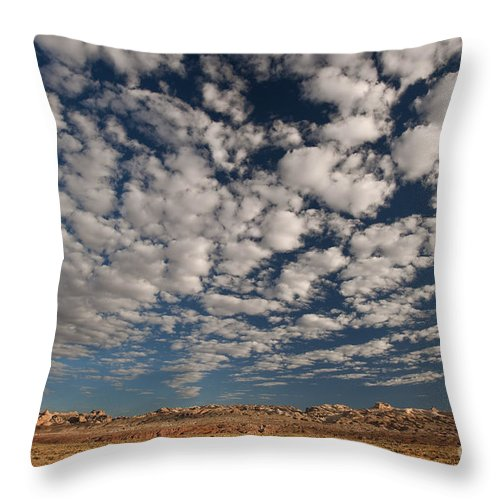 North America Throw Pillow featuring the photograph San Rafael Swell Near Goblin Valley Utah by Dave Welling