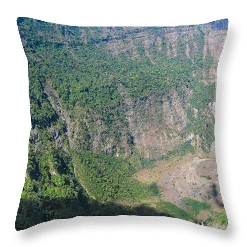 El Salvador Throw Pillow featuring the photograph San Salvador Volcano by Steven Ralser