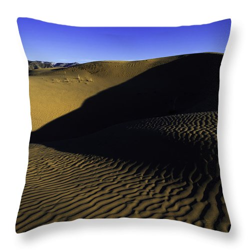 Utah Throw Pillow featuring the photograph Sand Ripples by Chad Dutson