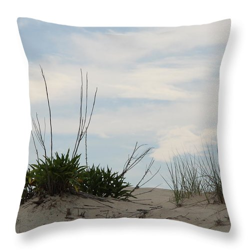Dune Throw Pillow featuring the photograph Delaware Sand Dune by Christiane Schulze Art And Photography