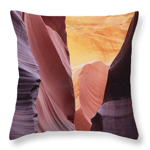 Nature Photography Throw Pillow featuring the photograph Sandstone Veils by Tom Daniel