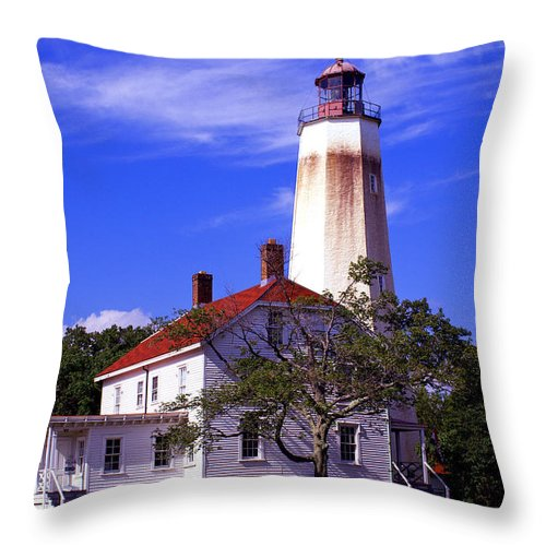 Sandy Hook Throw Pillow featuring the photograph Sandy's Mark by Pablo Rosales