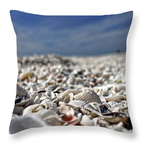 Shells Throw Pillow featuring the photograph Sanibel Shells by Richard Gripp