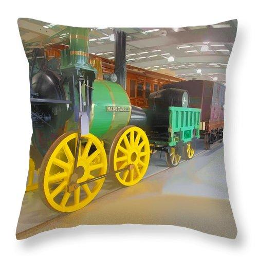 Shildon Throw Pillow featuring the digital art Sans Pareil by John Lynch